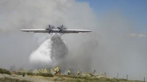SA-03 actuando sobre un incendio.