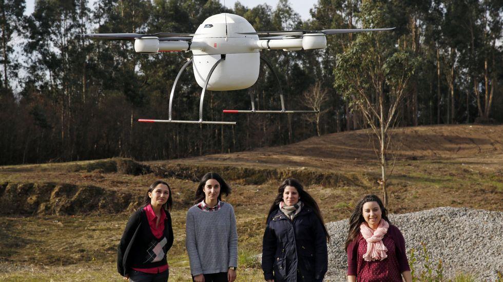 estudiantes dron transplante