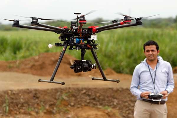 drone evaluación del terreno