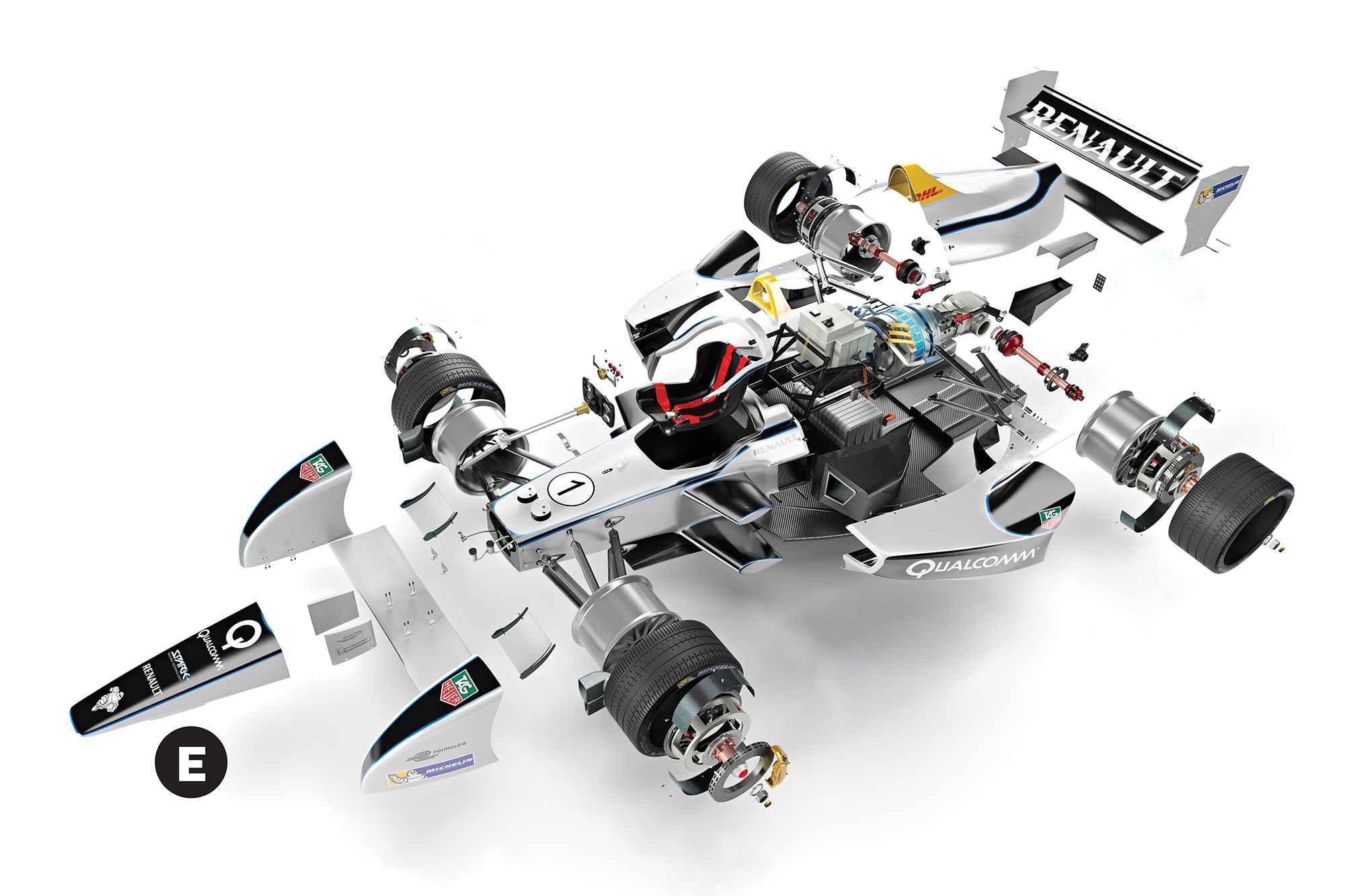 diagrama coche Fórmula E