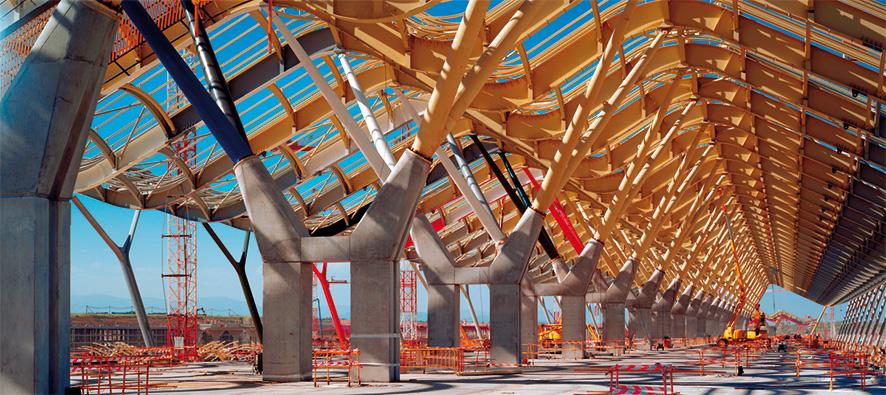 construcción terminal 4 del aeropuerto de barajas madrid