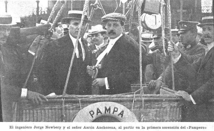 ascenso globo Pampero, año 1908
